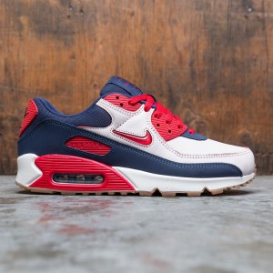 Nike Men Air Max 90 Premium (sail / university red-midnight navy)