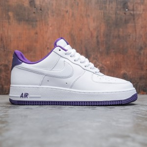 Nike Men Air Force 1 '07 (white / white-voltage purple)