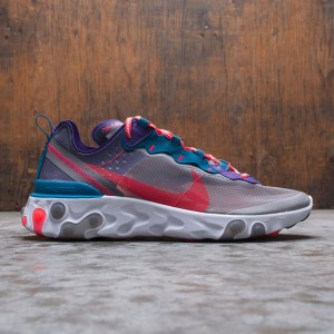Nike Men React Element 87 (black / red orbit-white-green abyss)