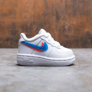 Nike Toddlers Force 1 Lv8 (white / blue hero-bright crimson)