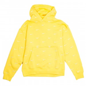 Nike Men Nrg Swoosh Logo Hoodie (chrome yellow)