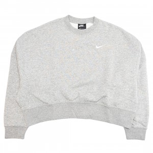 Nike Women Sportswear Essential Crewneck (dk grey heather / white)
