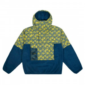 Nike Men Nrg Acg Aop Lightweight Fleece Jacket (valerian blue / tour yellow)