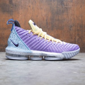 Nike Men Lebron Xvi (atomic violet / bicycle yellow-half blue)