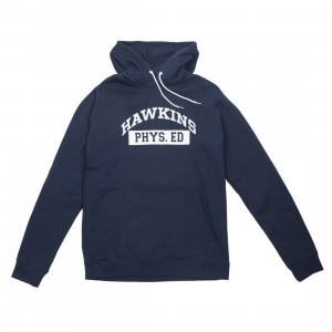 Nike X Stranger Things Men Pullover Hoody (college navy / white / sail)