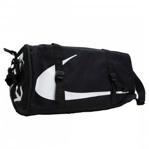 Nike X Off-White Men Nrg Ru Duff Shoulder Bag (black / black / white)