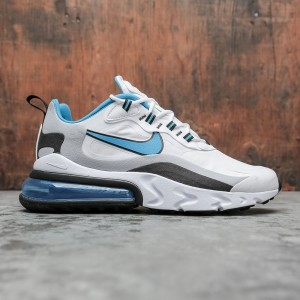 Nike Men Air Max 270 React (white / laser blue-wolf grey-black)