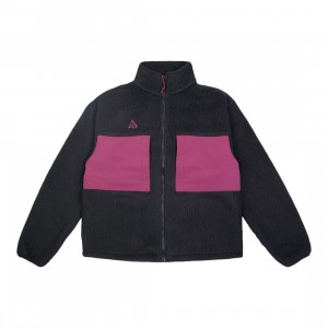 Nike Men Acg Microfleece Jacket (black / villain red / villain red)