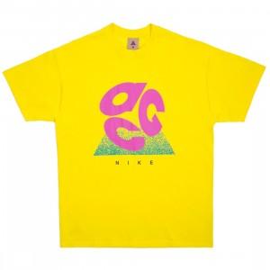 Nike Men Nrg Acg Evo Logo Tee (opti yellow / active fuchsia)