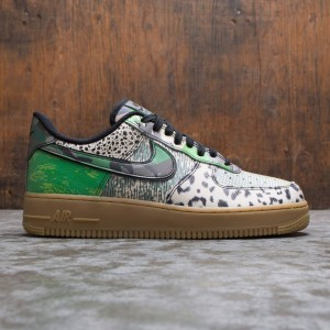 Nike Men Air Force 1 07 Qs (black / black-green spark-gum light brown)