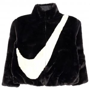 Nike Women Sportswear Faux Fur Jacket (black / fossil)