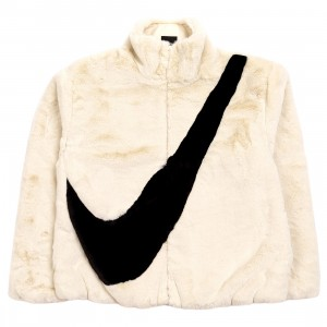 Nike Women Sportswear Faux Fur Jacket (fossil / black)