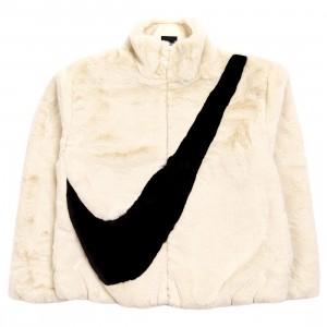 Nike Women Sportswear Faux Fur Jacket (fossil / black)