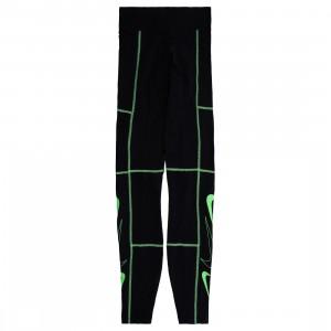 Nike Women Sportswear Swoosh Leggings (black / poison green / poison green)