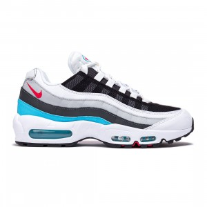 Nike Men Air Max 95 (white / lt fusion red-chlorine blue-black)