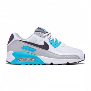 Nike Men Air Max 90 (white / iron grey-chlorine blue)
