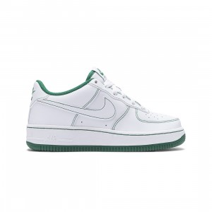 Nike Big Kids Air Force 1 (white / white-pine green)