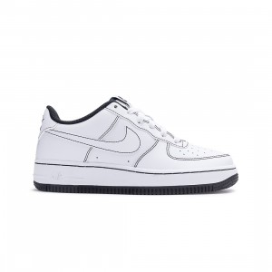 Nike Big Kids Air Force 1 (white / white-black)