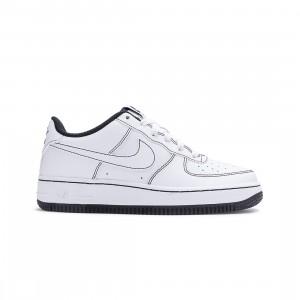 Nike Big Kids Air Force 1 (white / white-black)