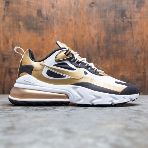 Nike Men Air Max 270 React (white / metallic gold-black)