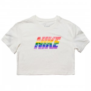 Nike Women Sportswear Betrue Cropped Tee (white / multi color  / black)