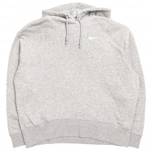 Nike Women Sportswear Fleece Hoody (dk grey heather / white)