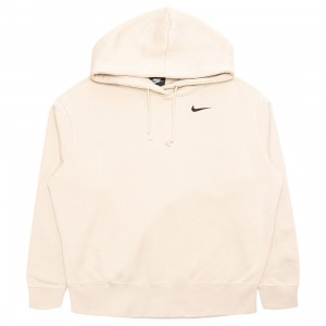 Nike Women Sportswear Fleece Hoody (oatmeal / black)