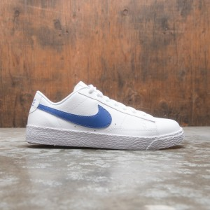 Nike Big Kids Blazer Low (white / astronomy blue)