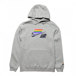 Nike Men Betrue Hoody (dk grey heather / multi color  / black)