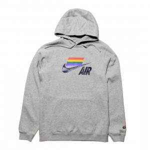 Nike Men Betrue Hoody (dk grey heather / multi color  / black)
