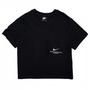 Nike Women Sportswear Swoosh Tee (black / white)