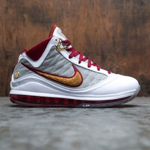 Nike Men Lebron 7 (white / bronze-team red-wolf grey)