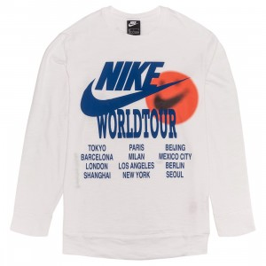 Nike Men Sportswear Long Sleeves Tees (white)