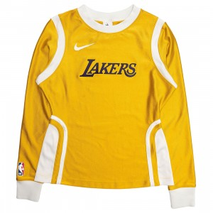 Nike Women W Nrg Ir Top Los Angeles Lakers Long Sleeves Tee (mineral gold)