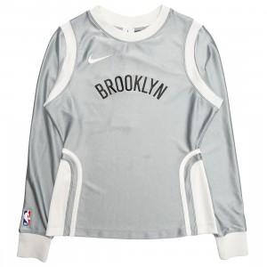 Nike Women W Nrg Ir Top Brooklyn Nets Long Sleeves Tee (lt smoke grey)