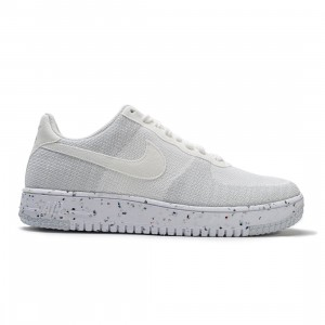 Nike Men Air Force 1 Crater Flyknit (white / white-sail-wolf grey)