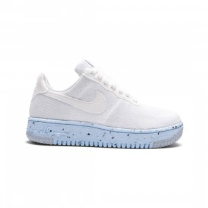 Nike Women Air Force 1 Crater Flyknit (white / white-pure platinum)