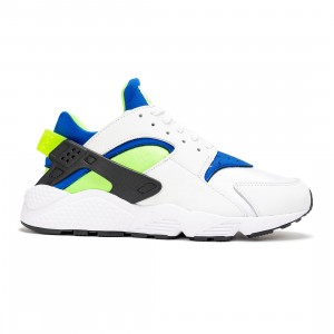 Nike Men Air Huarache (white / scream green-royal blue-black)