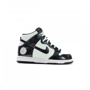 Nike Little Kids Dunk High Se (barely green / black-barely green-white)