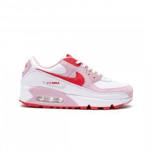 Nike Women Air Max 90 (white / university red-tulip pink-white)