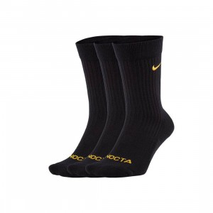 Nike Men U Snkr 3 Pairs Crew Socks - Nrg Au (black / university gold)