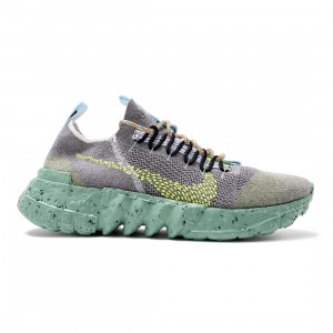 Nike Men Space Hippie 01 (wolf grey / volt-black-white)