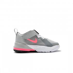 Nike Little Kids Lebron 18 Low (lt smoke grey / sunset pulse-black-white)