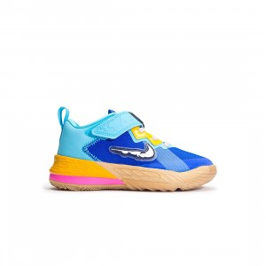 Nike Little Kids Lebron 18 Low (racer blue / white-baltic blue)