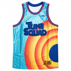 Nike Men Lebron X Space Jam: A New Legacy Tune Squad Jersey (lt blue fury / concord / university gold)