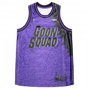 Nike Men Lebron X Space Jam: A New Legacy Goon Squad Jersey (hyper grape / wolf grey)