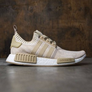 Adidas Men NMD R1 Primeknit (tan / linen khaki / off white)