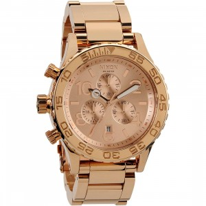 Nixon 42-20 Chrono Watch (gold / all rose gold)