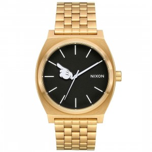 Nixon x Disney Time Teller Gold Watch - One Glove (gold / hand)