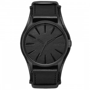 Nixon x Metallica Sentry Leather Watch - Black Album (black)